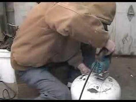 tutorial tank drum diy hank drum from propane tank doovi