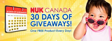 Free Canadian Giveaways - enter nuk canada 30 days of giveaways free stuff finder canada