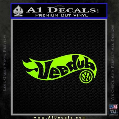 Polo Hotwheels Logo 1 hotwheels vee dub vw volkswagen d1 decal sticker 187 a1 decals