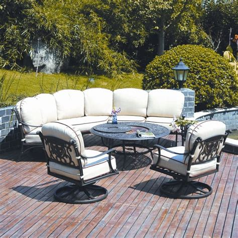 tuscan patio furniture grand tuscany pit set by hanamint