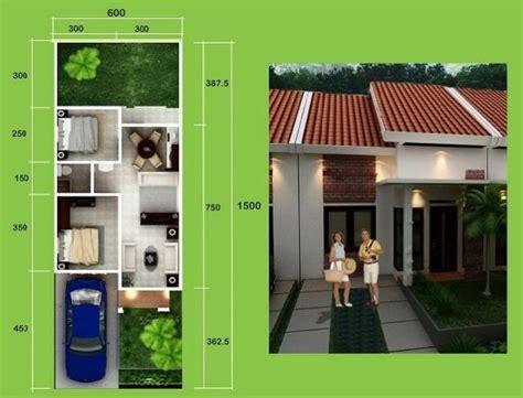 denah  gambar desain rumah minimalis luas