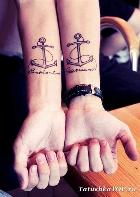 nice couple tattoos anchor tattoos and designs page 239