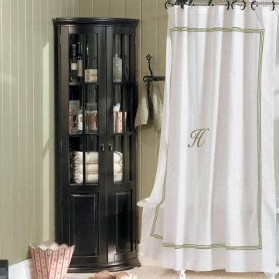 Monogrammed Shower Curtains Monogrammed Shower Curtain Stripe Ballard Designs