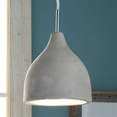 Concrete Pendant Light Mini Concrete Pod Pendant Light