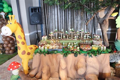 Animal Decoration Ideas by Kara S Ideas Jungle Animals Birthday Kara S