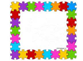 colored puzzle frame coloring page