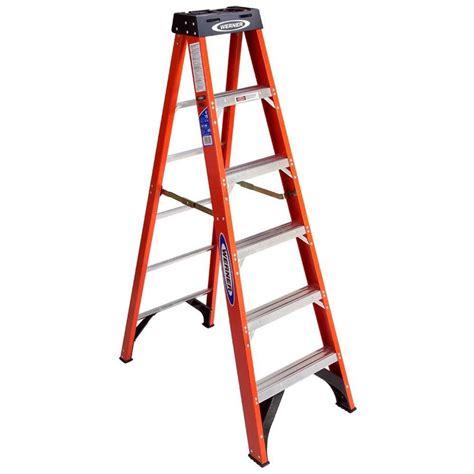 shop werner 6 ft fiberglass 300 lb type ia step ladder at