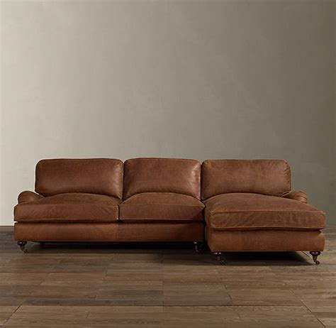 chaise in english english roll arm leather right arm sofa chaise sectional