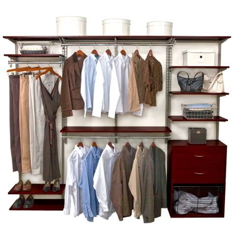 Freedomrail Closet freedomrail closet system chocolate pear in pre designed