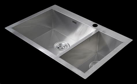 Kitchen Sink Warehouse 745x505mm Handmade Stainless Steel Topmount Kitchen Sink