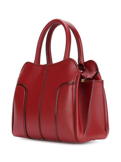 Tods Shopping Tote New Hitam lyst tod s shopping tote in