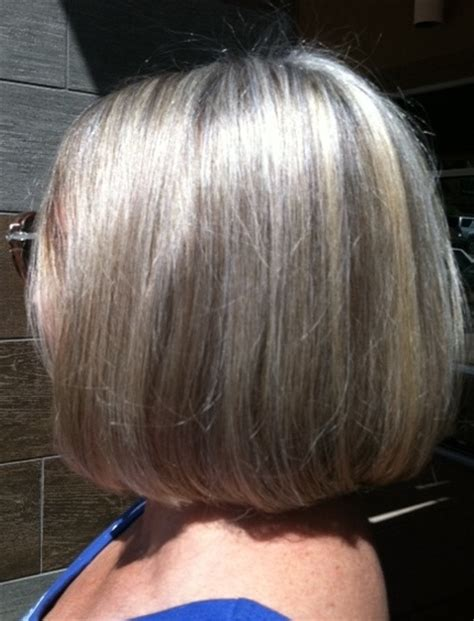 pictures of highlights in gray hair silver highlights in grey hair images