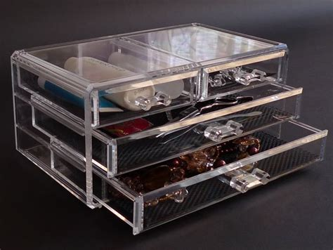 clear acrylic cosmetic organizer lipstick nail