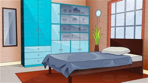 bedroom cartoon cartoon clipart a pretty and comfortable bedroom