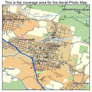 aerial photography map of yucaipa ca california