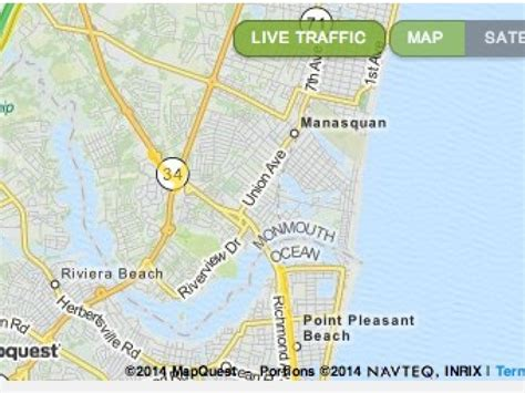 live road map traffic map live road conditions in manasquan and belmar