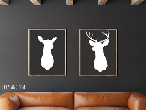 Stags Home Decor by Stags Home Decor 28 Images Antler Stag Deer Print Set