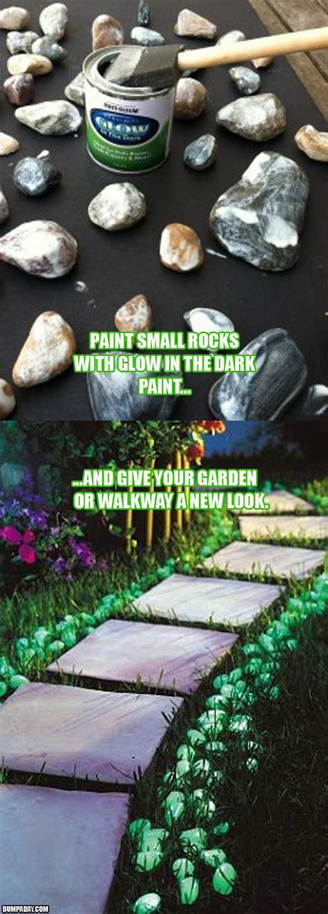 glow   dark garden rocks dump  day