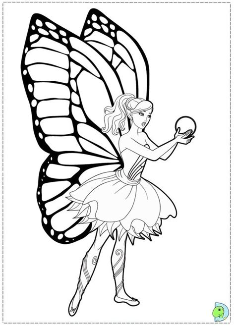 Barbie Butterfly Coloring Pages | barbie mariposa and the fairy princess coloring page