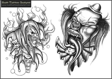 tattoo designs clowns clown images designs