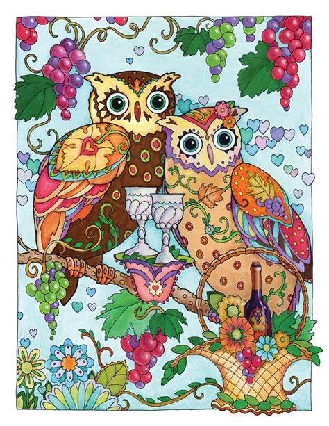 color owl creative owls coloring book by marjorie sarnat