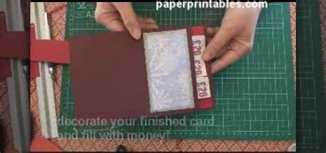how to make a money card how to make a pop up pocket money card 171 papercraft