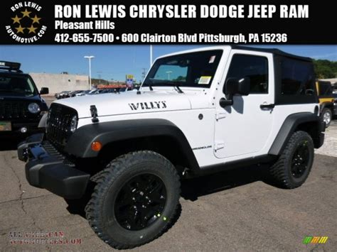 jeep willys white 2016 jeep wrangler willys wheeler 4x4 in bright white