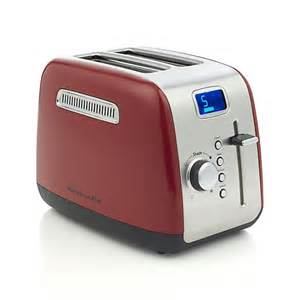 Kitchenaid Two Slice Toaster Kitchenaid 174 Red 2 Slice Toaster Crate And Barrel