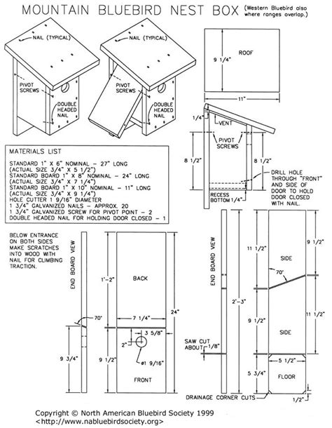 bluebird house pattern western bluebird house plans