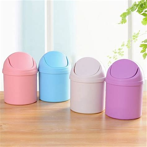 mini desk trash can mini waste bin desktop garbage basket home table trash can