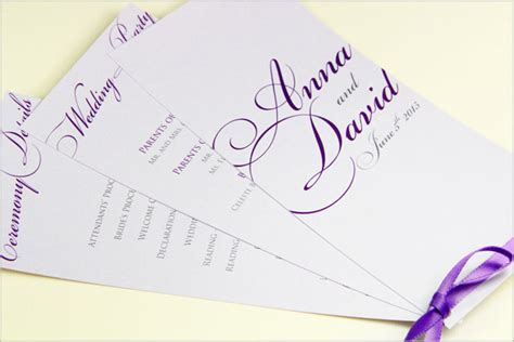 program paper templates wedding ceremony programs stationery to design print