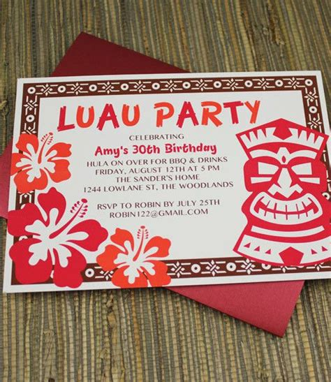 luau invitation template invitation template luau with tiki design luau