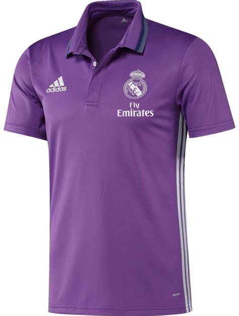 Polo Shirt Adidas 17 fly emirates real madrid adidas polo shirt purple sleeves 2016 17 ebay