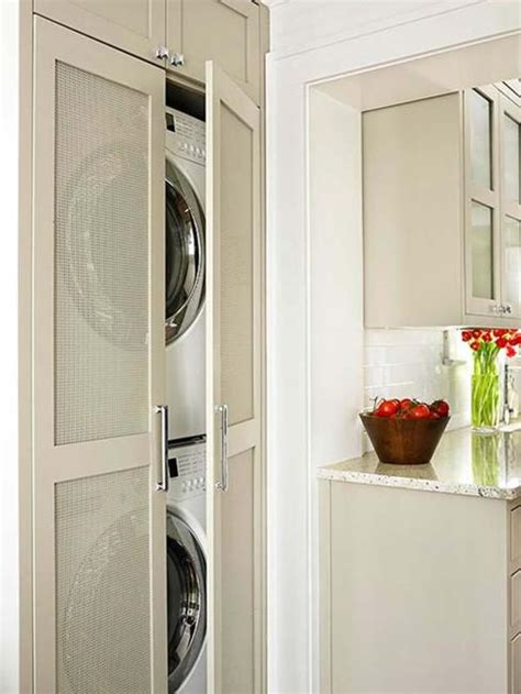 20 Space Saving Ideas For Functional Small Laundry Room Design Laundry Closet Door Ideas