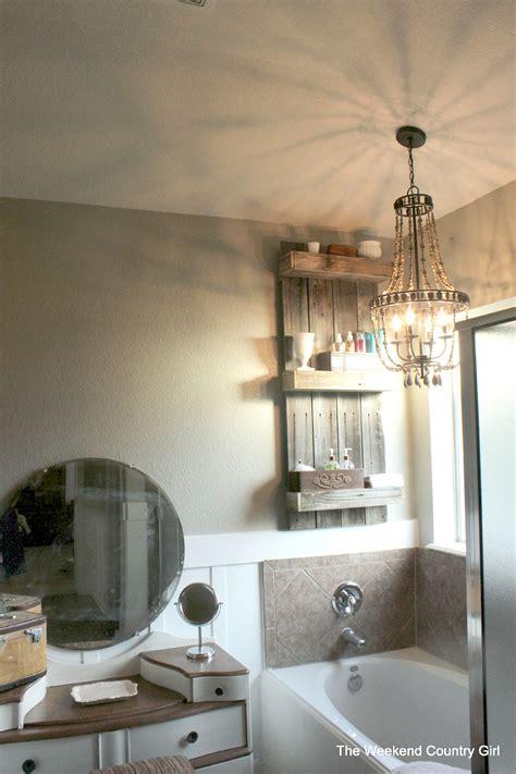 rustic wood bathroom shelves remodelaholic build an easy rustic bathroom shelf