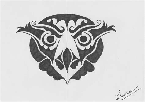 owl tribal tattoo tribal owl tattoos www imgkid the image kid has it