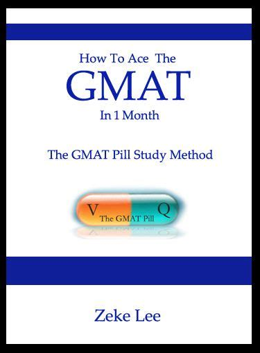 Free Gmat Mba by Gmatpill Ebook Cover How To Ace Gmat In 1 Month