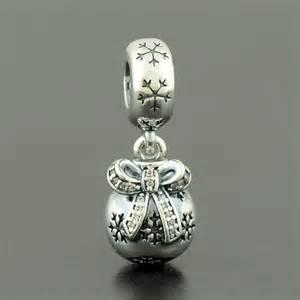Genuine pandora sterling silver christmas ornament charm 791410cz