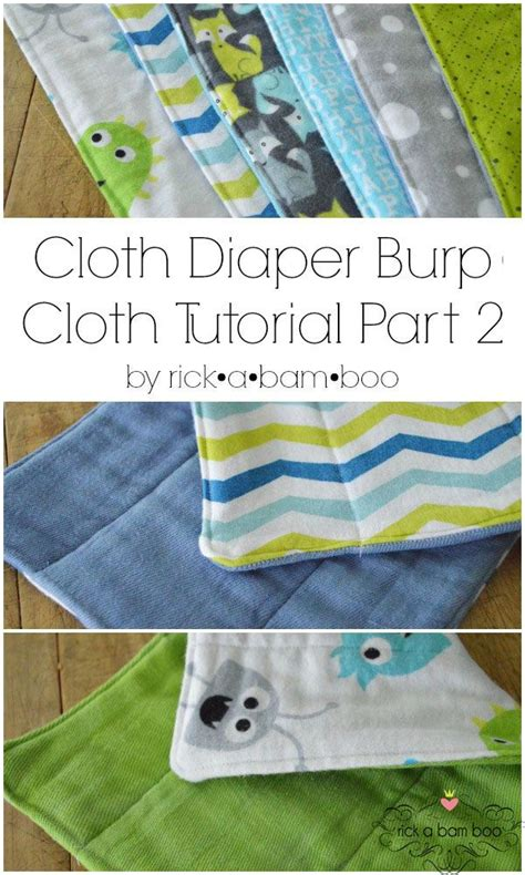 Handmade Cloth Diapers - cloth burp cloth tutorial part 2 sewing flannel