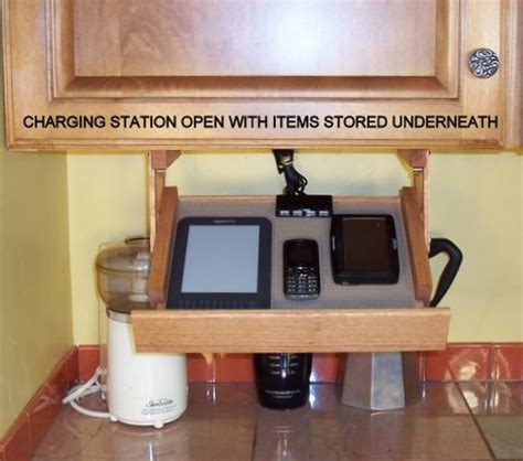 cellphone charging cabnet ultimate kitchen storage charging station a bright idea