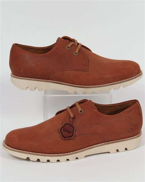 Sepatu Kickers Brontosaurus Casual Brown Leather kickers kymbo lace leather shoes smart formal mens