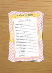 wishing well well wishes for baby shower wish advice cards