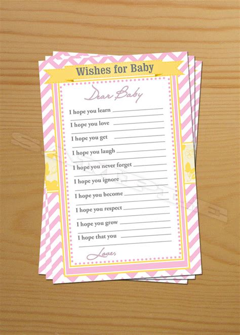 Baby Shower Card Wishes by Wishing Well Well Wishes For Baby Shower Wish Advice Cards