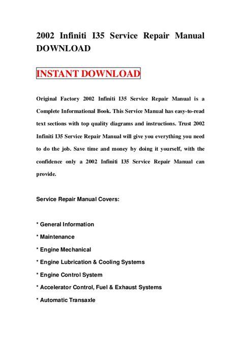 small engine repair manuals free download 2003 infiniti g35 seat position control 2002 infiniti i35 service repair manual download