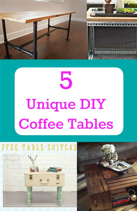 9 diy coffee table projects with clever and gorgeous 5 unique diy coffee tables discountqueens com