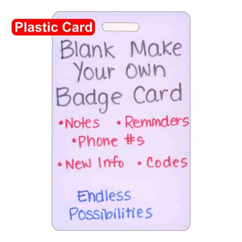 make your own id cards blank plastic vert make your own badge id card pocket