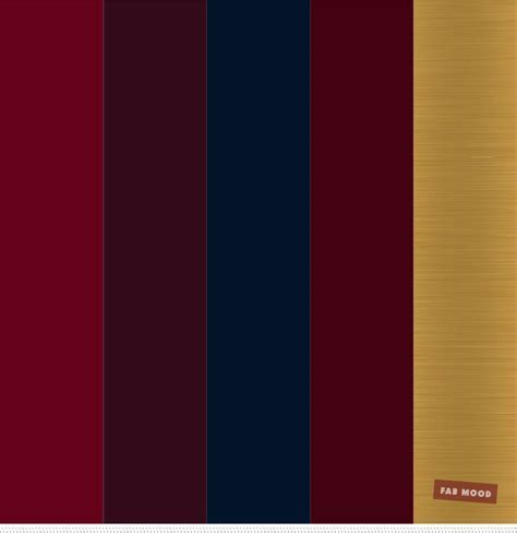 Burgundy , Gold and Navy Blue Color Palette   Fabmood