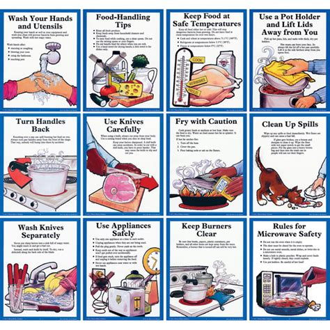 knife safety skills poster cooking with kids by debbie madson tpt don t get hurt in the kitchen posters