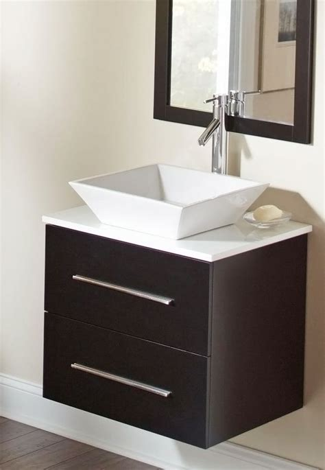floating vanities bathroom the floating vanity and square vessel sink give this