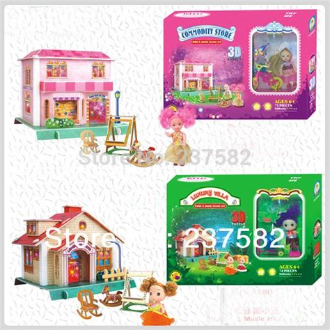 vire doll house music box i dressup dress up games frss shipping 3d jigsaw puzzle diy light music
